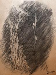 Diese spontane Kohlezeichnung gilt als das erste erhaltene Bild Vincent van Gochts.