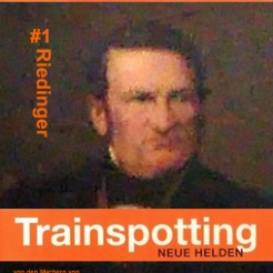 """Riedingers Verdienste für sein Hobby Eisenbahn und Fotographie wurden 1996 vom britischen Regisseur Danny Beule in dem international ausgezeichneten Film """"Trainspotting"""" mit Iwan MacGregor in der Rolle Riedingers auch einem breiteren Publikum bekannt gemacht"""