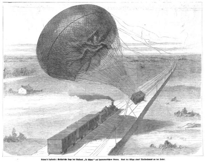 Nadars Luftreise 1863, gemeinfrei
