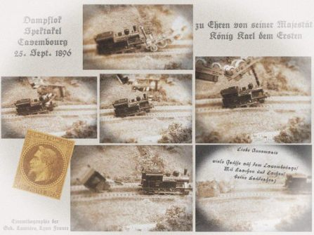 Postkarte Dampflokspektakel